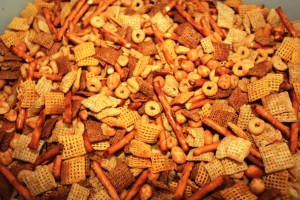 how to make nuts and bolts party mix